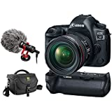 Canon EOS 5D Mark IV DSLR Camera with 24-70mm f/4L Lens, Canon BG-E20 Battery Grip, Journey 34 DSLR Bag & BY-MM1 Shotgun Video Microphone Kit