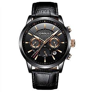 Montre de sport militaire pour homme – Étanche – Chronographe – Bracelet en cuir lumineux – Style business – Tendance…