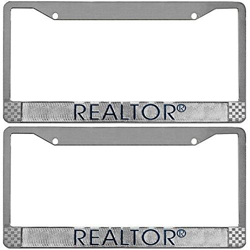Calendars & More, Inc. REALTOR Logo Branded License Plate (Silver 2 Pack)