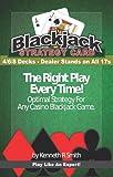 Blackjack Basic Strategy Chart: 4/6/8 Decks, Dealer Stands on All 17s