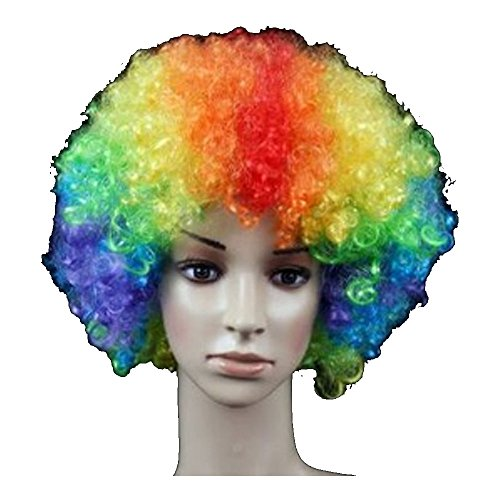 Supersnailman Holiday Funny Clown Party Hair Wigs (Rainbow) -