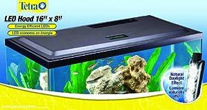 Tetra led aquarium hood 16 x 8 aquarium for 55 gallon fish tank led light hood