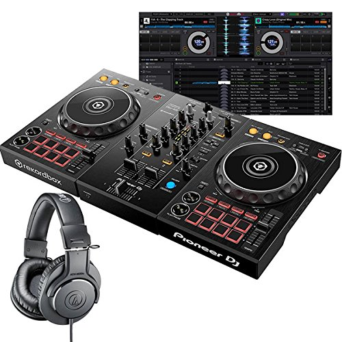 Pioneer DJ パイオニア DDJ-400 + ATH-M20 DJコントローラー+ヘッドホンセット   B07F6Z1JQH