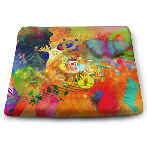 Comfortable Seat Cushion Print Abstract Woman Modern Dance Disco - Memory Foam Filled for Outdoor Patio Furniture Garden Home Office