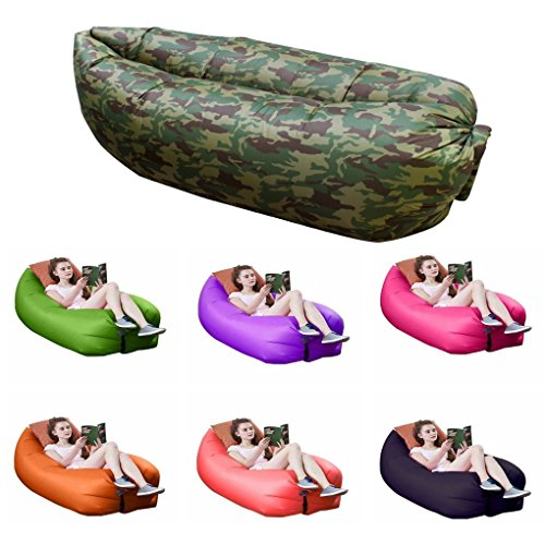 Sleeping Outdoor Inflatable Lounger Inflates product image
