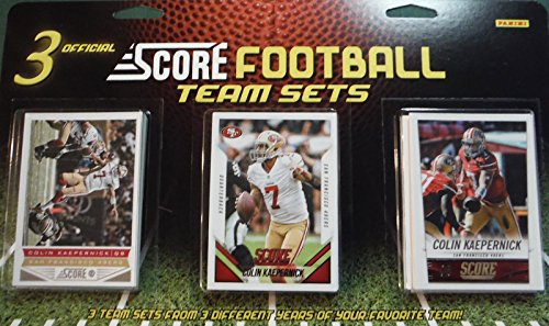 San Francisco 49ers 3 Team Set Factory Sealed Gift Lot Including 2015, 2014 and 2013 Score Team Sets (Team Set Score)