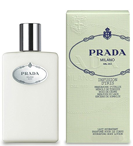 Prada Infusion d'Iris Hydrating Body Lotion For Women, 3.4 oz *Free Name Brand Sample-Vials With Every - Prada Infusion Lotion Diris Body Hydrating