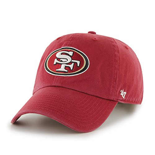 NFL San Francisco 49ers Clean Up Adjustable Hat, Red, One Size Fits All Fits All