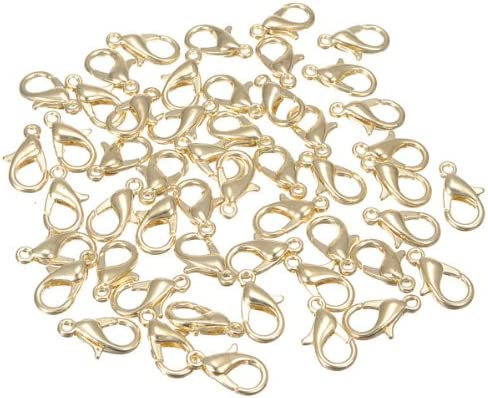 TOAOB 100pcs Gold Plated Lobster Clasps Claw~Jewelry Findings~12mm