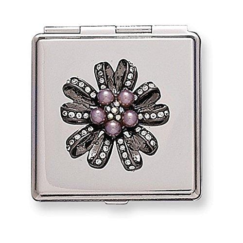 (Silver-tone w/ Swarovski Crystal Compact)
