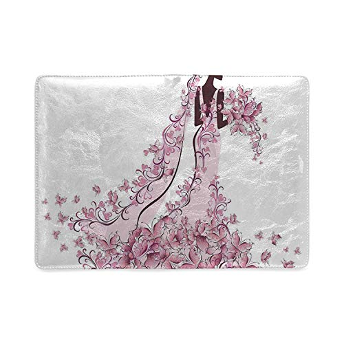 Wedding Decorations Utility Notebooks,Flowers Hearts Butterflies on Wedding Dress Bridal Gown for Work,5.82
