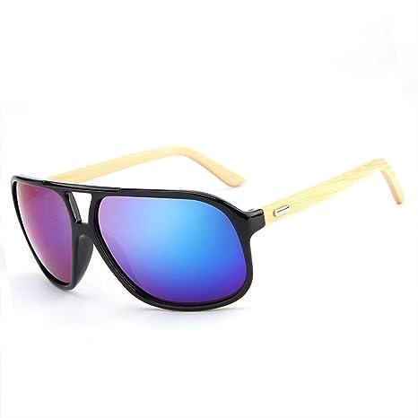LPLHHX Gafas de Sol de Madera Gafas de Montura Gafas de Sol ...