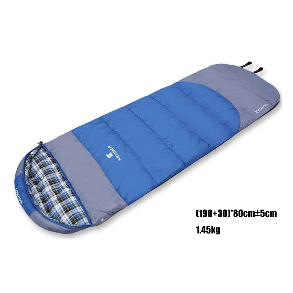 Autumn winter Dark bleu JFFFFWI Sac de Couchage en Coton Adulte Extérieur Extérieur Garder au Chaud Hiver épais Individuel portable Peut épeler Double Voyage Anti Sale