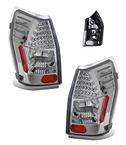 Dodge Magnum Chrome Accessories (SPPC L.E.D Taillights Chrome Assembly Set for Dodge Magnum - (Pair) Driver Left and Passenger Right Side Replacement)