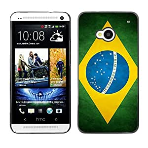 YOYO Slim PC / Aluminium Case Cover Armor Shell Portection //Brazil Grunge Flag //HTC One M7