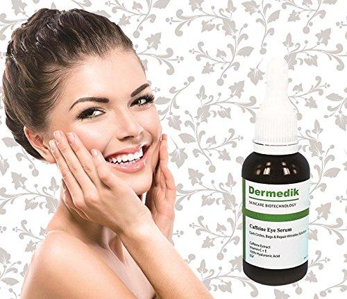 Caffeine Extract + Vitamin C & E + 100% Hyaluronic Acid + EGF Eye Beauty Serum 1oz/30ml Dermedik