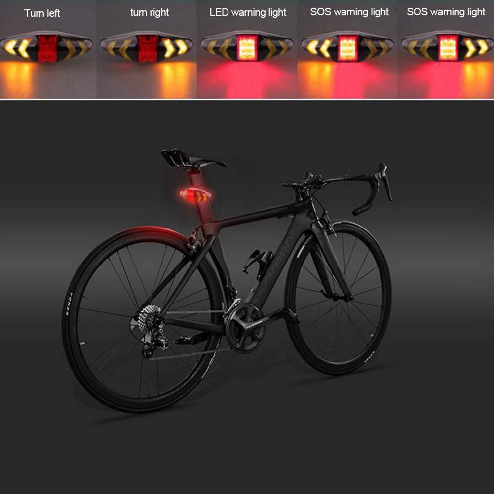 Color Tipo 1 tama/ño A1 MASO Luz Trasera para Bicicleta