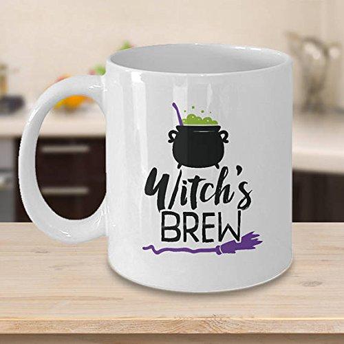 Witches Brew, Happy Halloween, Halloween Mug, Halloween Gifts, Halloween Lover, Halloween Glass, Funny Halloween (Roseanne Halloween Witch)