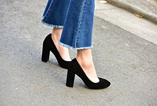 Lucky Chaussures Couleur Mariage Dress Dating Pompes a Mariée Pointu eu36 3 Hauts Talons Satin black Chaussures Clover Sandales De Party Femmes En Blink Cour Bureau ppPBOrqw