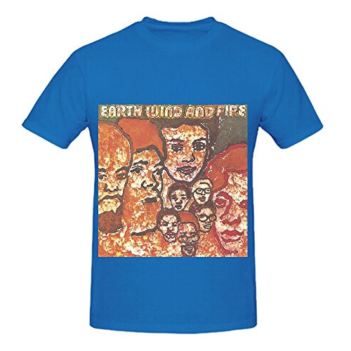 Earth, Wind Earth, Wind & Fire Funk Mens Crew Neck Custom Shirt Blue (Adventures Of Lil Coco compare prices)