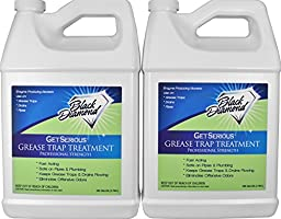 GET SERIOUS Grease Trap Treatment Commercial Enzyme Drain Opener, Cleaner, Odor Control, Trap Cleaning And Maintenance. 2 Gallons.