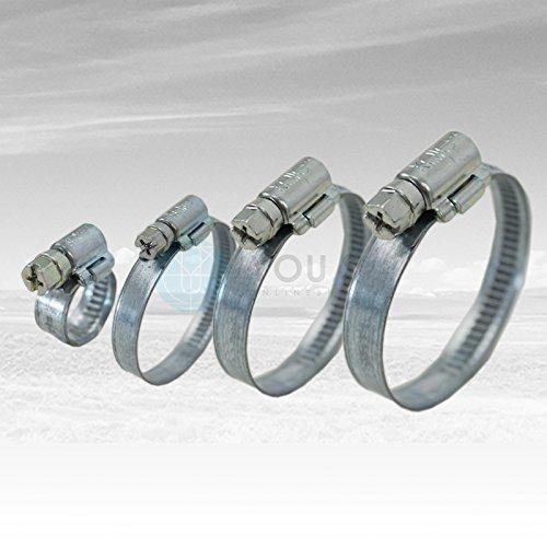 5 St/ück 12 mm 30-45mm Schneckengewinde Schlauchschellen Schellen Stahl Verzinkt