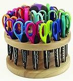 24 Kraft Edger Scissors in Rotating Hardwood Rack