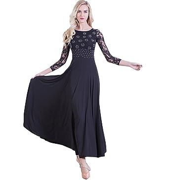 e27b489b2 NAKOKOU Women Costumes Performance Dance Ballroom Competition Dresses  Modern Waltz Foxtrot Standard Ballroom Dancing Clothes(