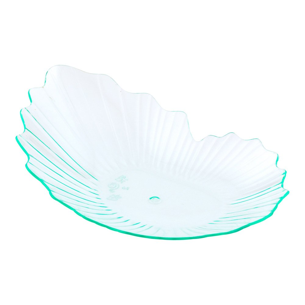 Mini Coquille Plate Shell Plate 3.3 Black Premium Plastic 100ct Box Restaurantware Oyster Shell Plate
