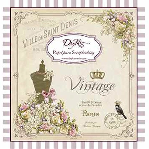 24/feuilles Bloc note Dayka Vintage de Dayka Trade