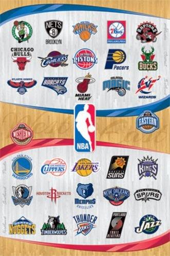NBA Logos 2013 Art Print Poster