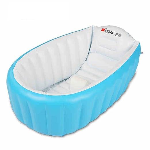 Intime Inflable Bebé Bañera, Ducha Del Bebé Niños De Hidromasaje (Para 0-3 Años), Azul