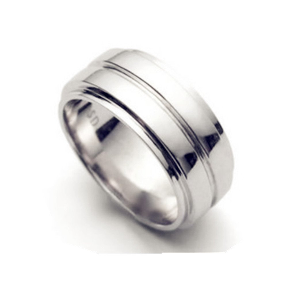 Unisex Stainless Steel Supernatural Dean's Smooth Band Ring,Size 7-11