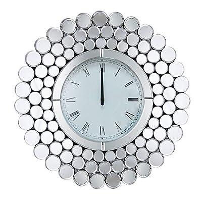 NEW Abbyson Living Radiance Round Wall Mirror Clock