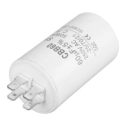 Condensador de funcionamiento - BiuZi 1Pc CBB60 AC 250V 60uF 50 ...