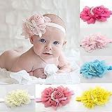 "FEITONG(TM) 8PC Baby""s Headbands Girl""s Rhinestone Chiffon Head Band Hair Flower"