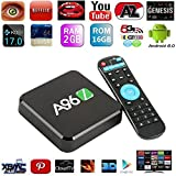 Susay® 2017 Latest TV Box A96Z KODI 17.0 Fully Loaded Android TV BOX Amlogic S905X Quad Core Android 6.0 2G/16G H.265 4K UHD 3D WiFi 2.4G/5G Unlocked Google Streaming Media Player