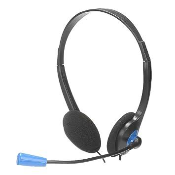 NGS MS 103- Auriculares estéreo con micrófono flexible para ordenador, conexión jack y control de volumen, color Negro: Amazon.es: Electrónica