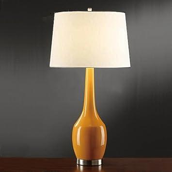 Amazon.com: Table lamp American minimalist orange yellow blue orange ...
