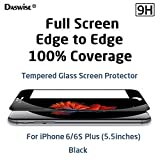 iPhone 6s Plus, iPhone 6 Plus Screen Protector, Daswise Full Screen Anti-scratch Tempered Glass Protectors, Cover Edge-to-Edge, HD Clear, Bubble-free Shockproof [3D Touch Compatible] (5.5 Black)