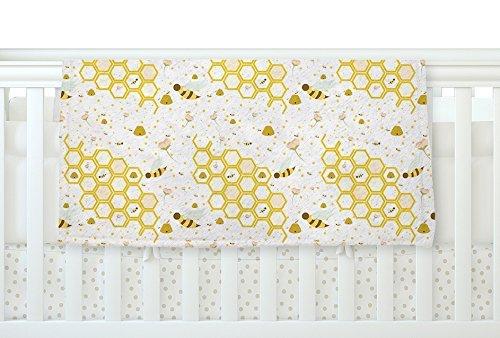 KESS InHouse Stephanie Vaeth Honey Bees White Yellow Fleece Baby Blanket 40 x 30 [並行輸入品]   B077ZTMKJT