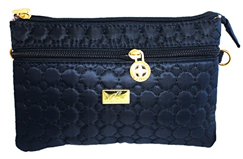 Bijoux De Ja Quilted Cross Body Handbag Purse Wristlet Clutc