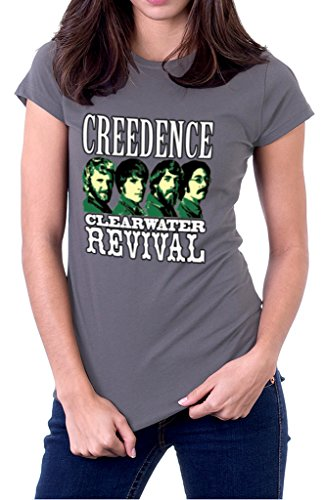 Creedence Clearwater Revival CCR Band Logo Women's T-Shirt Medium Gravel