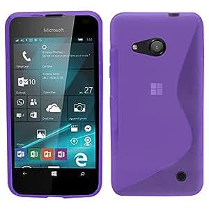 carcasa de la carcasa protectora de la onda S SAMRICK Hydro Gel para Microsoft Lumia 550 - púrpura