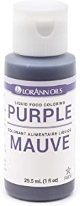 LorAnn Purple Liquid Food Coloring, 1 Ounce Bottle