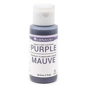 LorAnn Purple Liquid Food Coloring, 1 ounce bottle