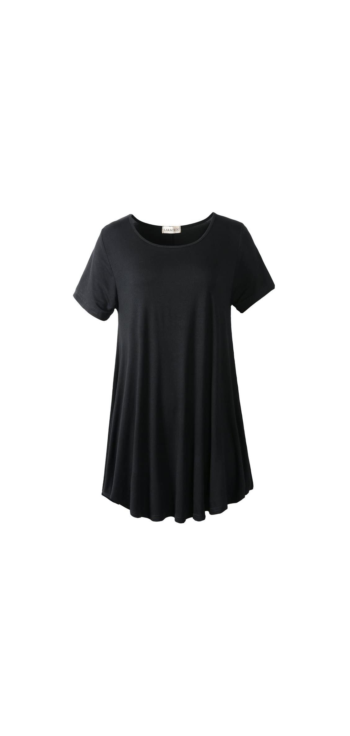 Women Short Sleeves Flare Tunic Tops For Leggings Flowy