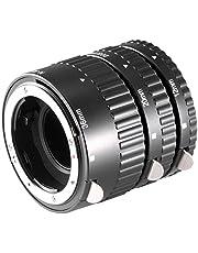 Neewer 10037281 - Tubo de extensión para Macro de cámaras réflex Digitales Nikon AF, AF-S, DX, FX y N190 (3 Piezas), Color Negro