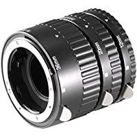 Neewer 12mm, 20mm, 36mm Black Auto Focus Macro Extension Tube Set for Nikon SLR cameras and Nikkor AF, AF-S, D, G and VR lens series (Metal)