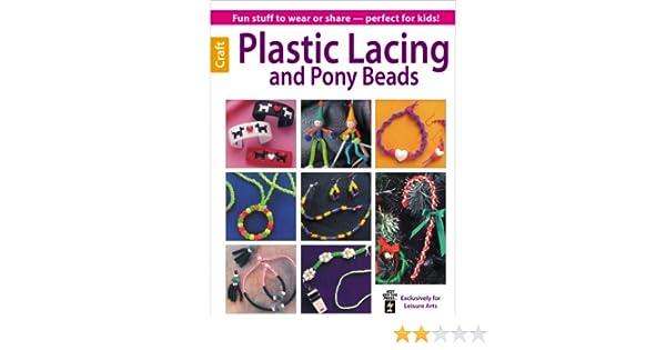 Leisure Arts Plastic Lacing and Pony Beads Book LA-6190